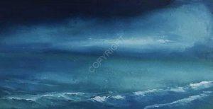 Fou d'océans 56 - Peinture à l'huile réalisée par Gérard Obadia
