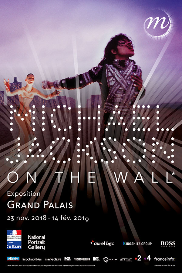 Michael Jackon - On the wall, affiche de l'expositionau Grand Palais à Paris à partir du 23 novembre 2018.