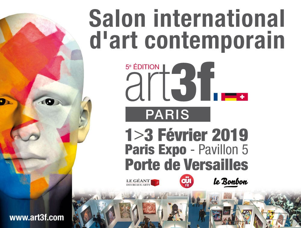 Art3F Paris - Affiche 5ème salon d'art contemporain 2019