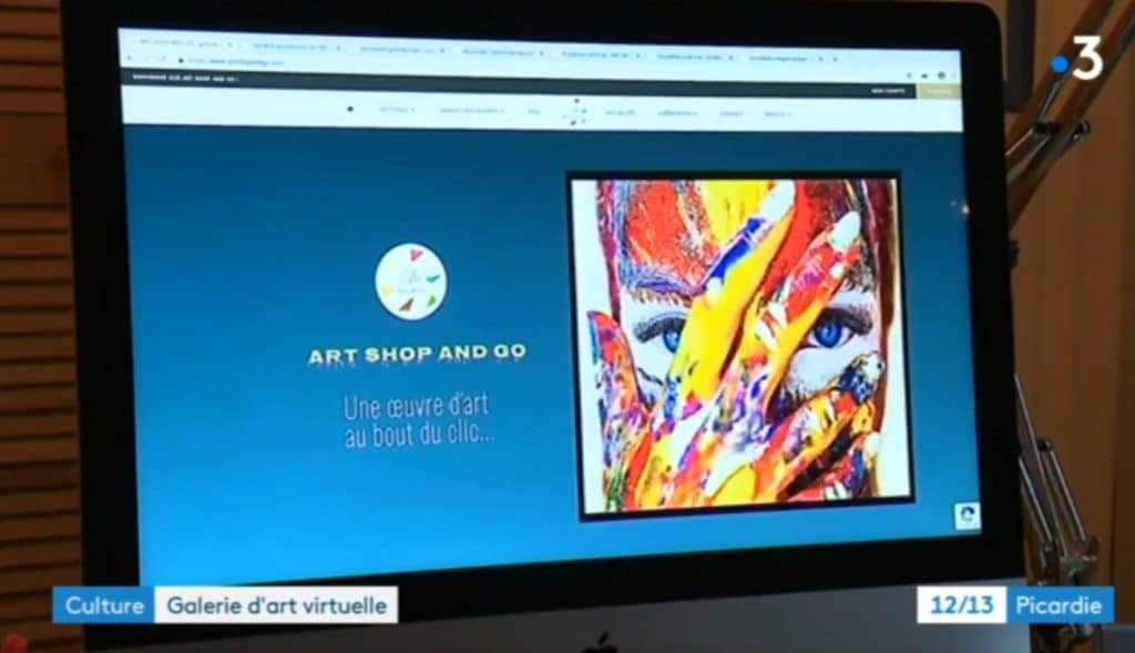 ART SHOP AND GO : Reportage de France 3 sur la galerie d'art en ligne