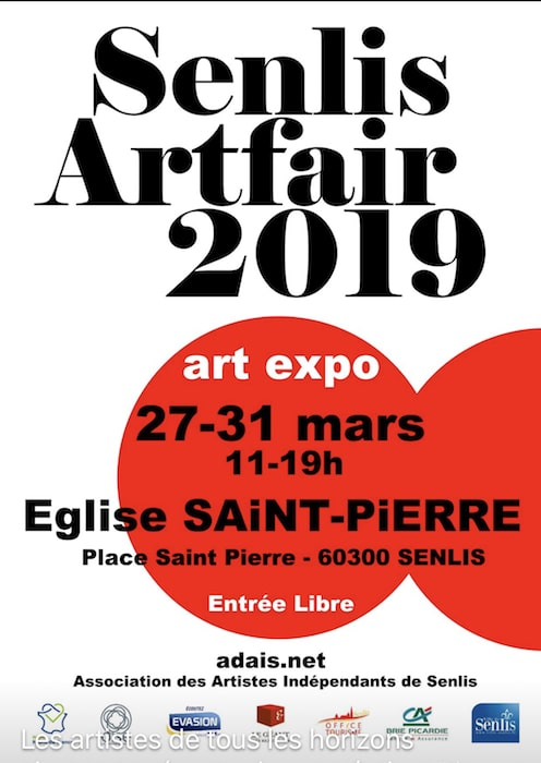 Senlis Artfair 2019 - Affiche du salon d'art contemporain