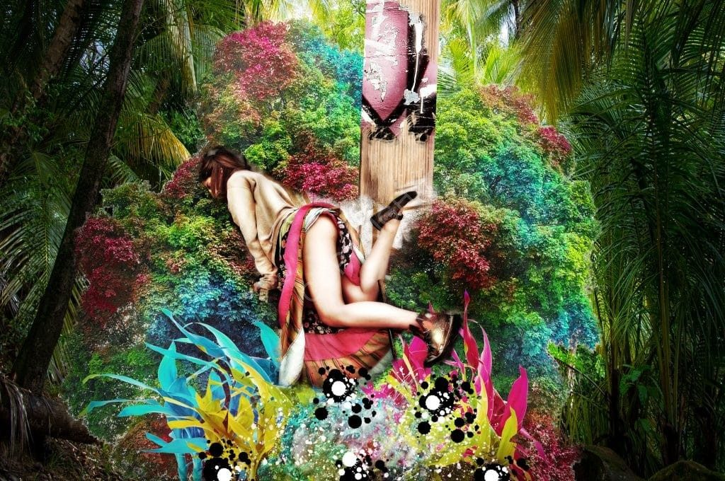 Dance in the wild - Tribu des Maux-Dits. Montage photo par l'artiste Nawak the Nabab. En vente en divers formats sur la galerie d'art en ligne ART SHOP AND GO