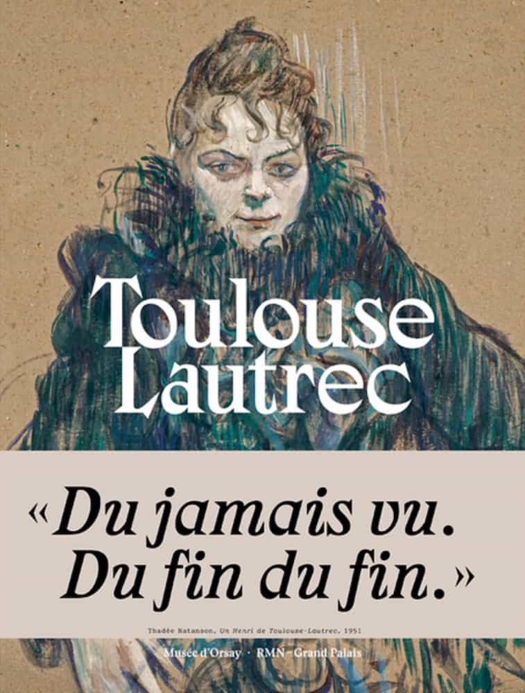 Couverture du catalogue de l'exposition consacrée à Toulouse Lautrec en 2019 au Grand Palais de Paris