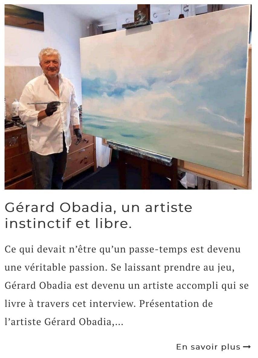 Article sur l'artiste Gérard Obadia