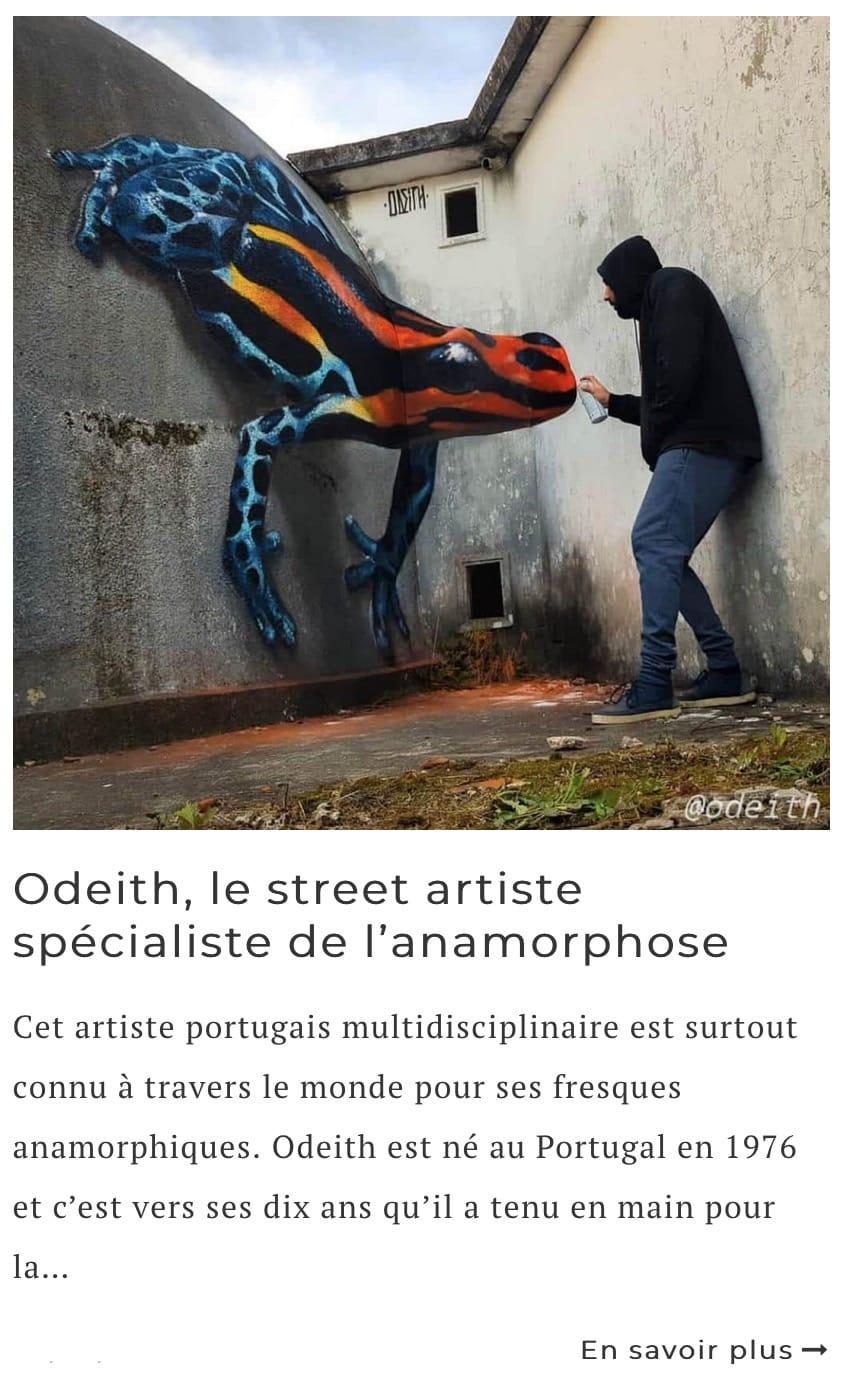 Article sur le street artiste Odeith