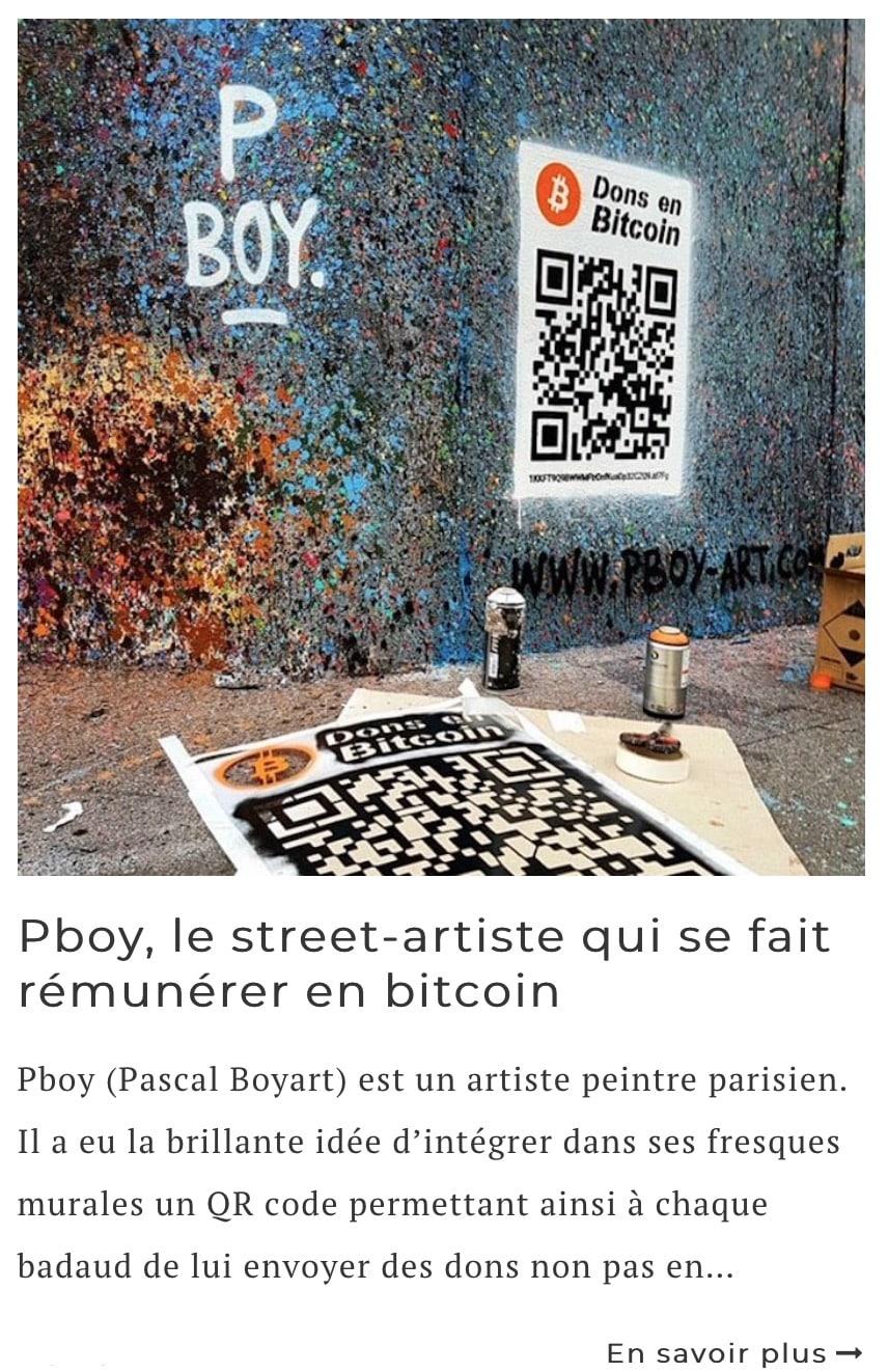 Article sur l'artiste Pascal Boyart (Pboy)
