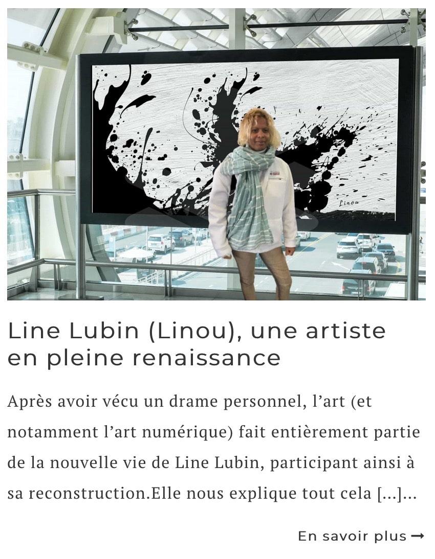 Article sur l'artiste Line Lubin (Linou)